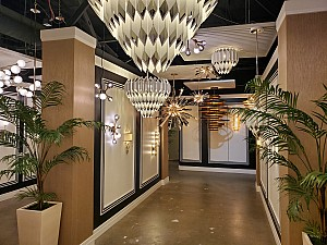 <h1> Designer Lighting Showroom <h2>