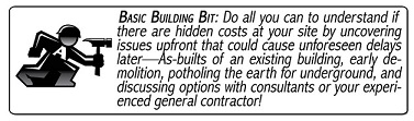 Basic Building Bit #4: Existing Conditions in a Building You May Purchase or Lease
